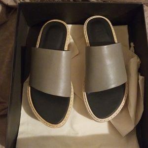 TIBI Mina Nappa Storm slides sandals